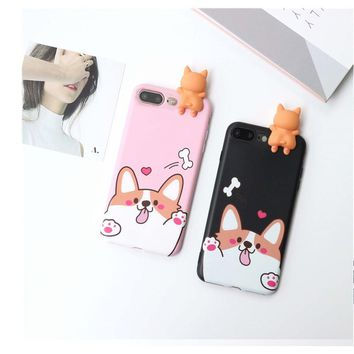 3D Cartoon Animals Cute Bare Bears Soft Silicone Case For IPhone 7 Plus 5.5 Inch 9.21 cute Mobile phone shell
