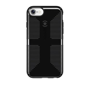 ONETOW Speck Products CandyShell Grip Cell Phone Case for iPhone 8/7/6S/6 - Black/Slate Grey