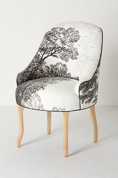 Handpainted Toile Pull Up Chair from Anthropologie Home