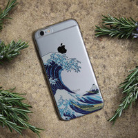 The Great Wave off Kanagawa Soft TPU Phone Case Cover For iPhone 7Plus 7 6Plus 6 6S 5 5S SE 5C 4 4S Samsung Galaxy 2015 2016