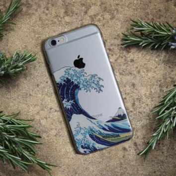 The Great Wave off Kanagawa Soft TPU Phone Case Cover For iPhone 7Plus 7 6Plus 6 6S 5 5S SE 5C 4 4S SAMSUNG GALAXY S5 S6 S7
