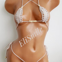 EXTREME MICRO BIKINI Sandy Dancewear Micro Thong Bikini Fetish Extreme Pole Dance Micro G-string Scrunch Fetish Hawaii Sandy