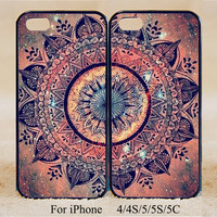 Mandala,Double Cases,iPhone 5s Case iPhone 5c case iPhone 5 case, iPhone 4 Cases iPhone 4s Cases,Samsung Galaxy S3,S4,Couple Csae