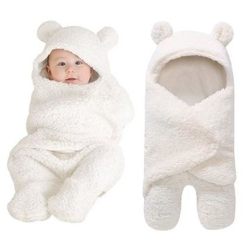 Plush Soft Swaddle Baby Suit Wrap