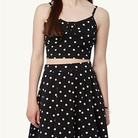 Polka Dot Cropped Bustier