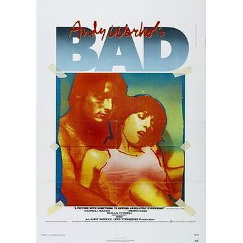 Bad Andy Warhol Movie Poster Standup 4inx6in