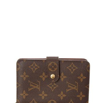 Louis Vuitton Womens Monogram Canvas Porte Papier Zip Wallet