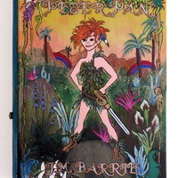 Peter Pan hideaway book box - beautiful and hand-decorated.