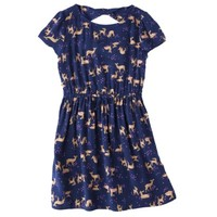 Cherokee® Girls' Challis Dress -  Navy Voyage