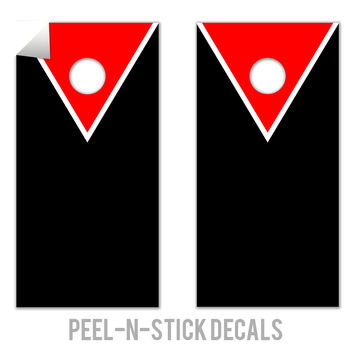 Classic Triangle - Red, Black Decals