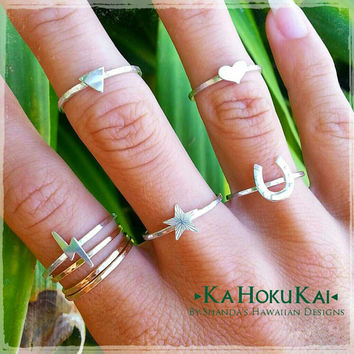 Accent Charm Stackable Rings