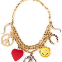 Moschino Vintage 'Love Peace Smile' necklace