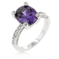 Purple Anniversary Ring, size : 08