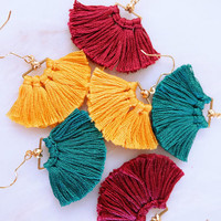 Aria Tassel Earrings - Earth