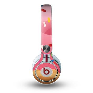 The Sprinkled 3d Donut Skin for the Beats by Dre Mixr Headphones