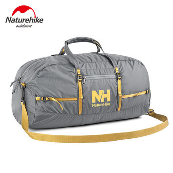NatureHike Nylon Foldable Bags Large Capacity  Gym Bag Sports Bags Women Portable  Single Shoulder Barrel Gym Totes Sport Bag
