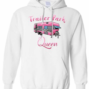 Ladies/Junior's Funny Trailer Park Queen Pullover Hoodie