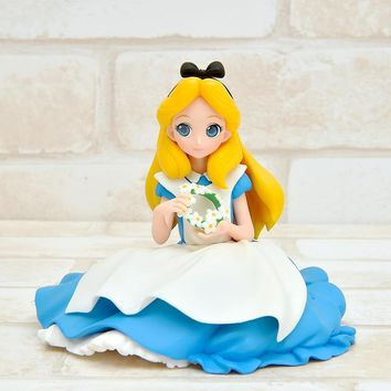 Alice in Wonderland Sitting Ver. Action Figure 1/10 scale painted figure Cute Princess Series Alice PVC figure Toy Brinquedos