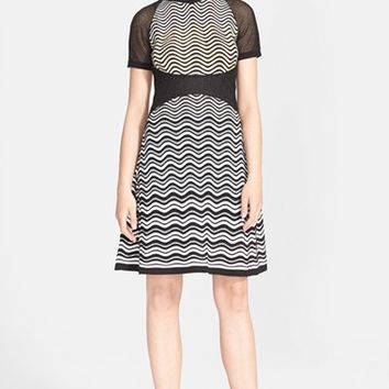 Women's M Missoni Metallic Wave Knit Dress,