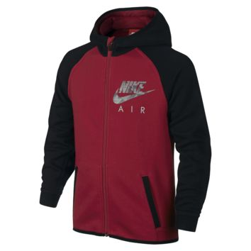Nike Air Flash Brushed Fleece Full-Zip Boys' Hoodie