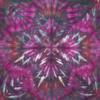 trippy tie dye tapestry or wall hanging in black and pink
