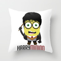 Harry Minion Throw Pillow by LookHUMAN