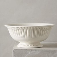Ceres Serving Bowl by Anthropologie in White Size: