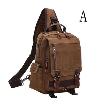 Canvas Outdoor Diagonal Chest Backpack