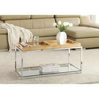 Convenience Concepts Palm Beach Coffee Table with Trays, Multiple Finishes - Walmart.com