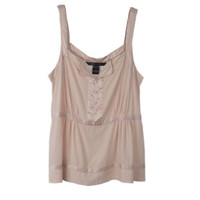 Marc Jacobs Blush Pink Silk Sleeveless Top Vest Blouse Size 8