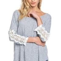 Casual Cute Ribbed Knit Tunic - Sky !