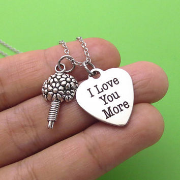 I Love You More, Bouquet, Silver, Keychain, Bangle, Necklace, Love, Heart, Jewelry, Birthday, Lovers, Friends, Sister, Christmas, Gift