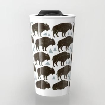 Follow The Herd Travel Mug by Heather Dutton