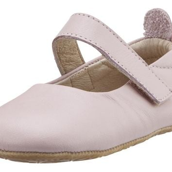 Old Soles Girl's Gabrielle Powder Pink Soft Leather Mary Jane Crib Walker Baby Shoes