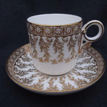 Royal Worcester Coffee Cup /Can & Saucer - Vintage  - 1951. Ideal collector, anniversary or birthday gift