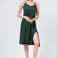 Green Slip Dress Emerald Slip Dress