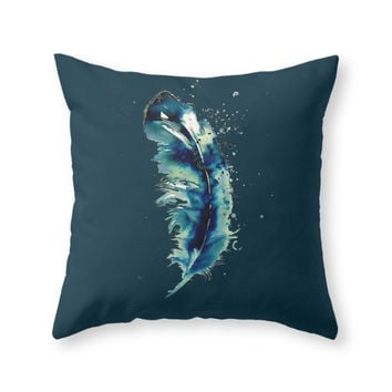 Society6 Spirit Feather Throw Pillow