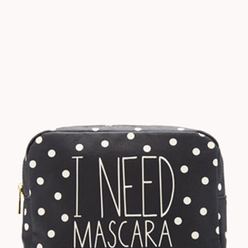I Need Mascara Midsize Cosmetic Bag