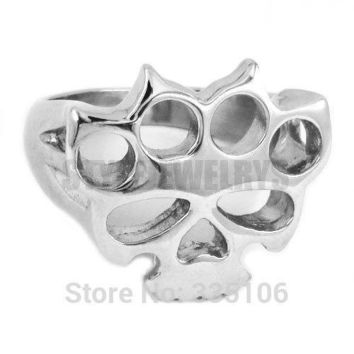 Free shipping! Silver Boxing Glove Skull Ring Classic Stainless Steel Jewelry Knuckles Motor
