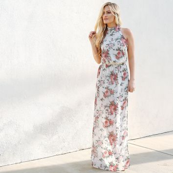 Crazy Kind of Love Floral Maxi Dress
