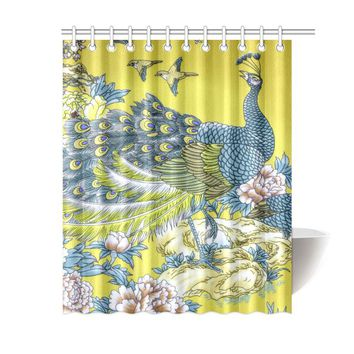 "Graceful Peacock Shower Curtain 60""x72"""