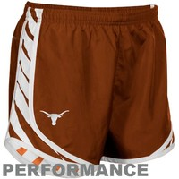 Nike Texas Longhorns Ladies Burnt Orange Striped Tempo Performance Shorts