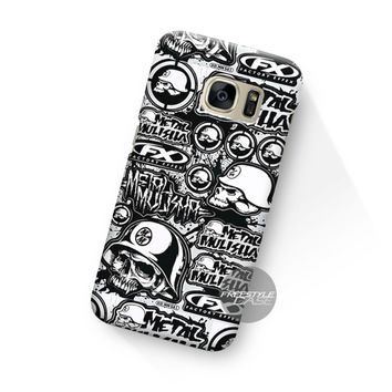 Art Work Black White Metal Mulisha Samsung Galaxy Case Cover Series