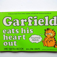 Vintage Garfield Eats His Heart Out Comic Strip Book 1983