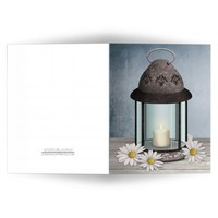 Note Cards - Rustic Lantern Daisy Blue