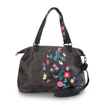 Disney Loungefly Alice Floral Silhouette Tote
