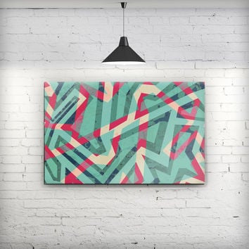 Trippy Retro Pattern - Fine-Art Wall Canvas Prints