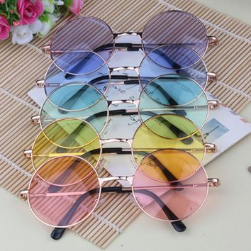 1Pcs Fashion Circle The Sun Glasses Sunglasses