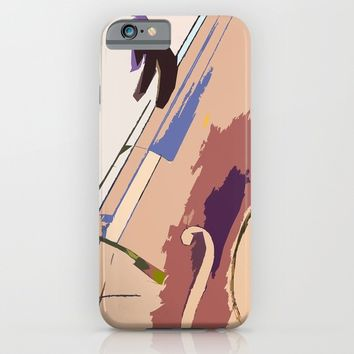 Jazz Bass Illustration iPhone & iPod Case by Cinema4design
