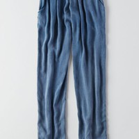 AEO Women's Tencel Jogger (Medium Indigo)
